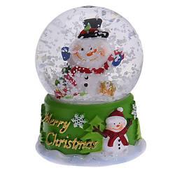 Водяной снежный шар Снеговик (мал.)