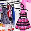 Barbie Кукла Барби и модный шкаф розовыйс одеждой и обувью Fashionistas Гардероб GBK12, фото 5