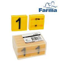 """Блок цифровой """"1"""" (45*45 мм) к ошейнику для идентификации животных FARMA (Нидерланды)"""