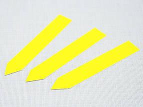 Етикетки-кілочки для рослин PET-R кольорові 1,6 х 10 см, 500 шт - жовті, фото 2