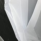 Тюль на люверсах | Тюль из шифона | Готовый тюль из шифона | Тюль якісний з шифону | Тюль белый на люверсах |, фото 8