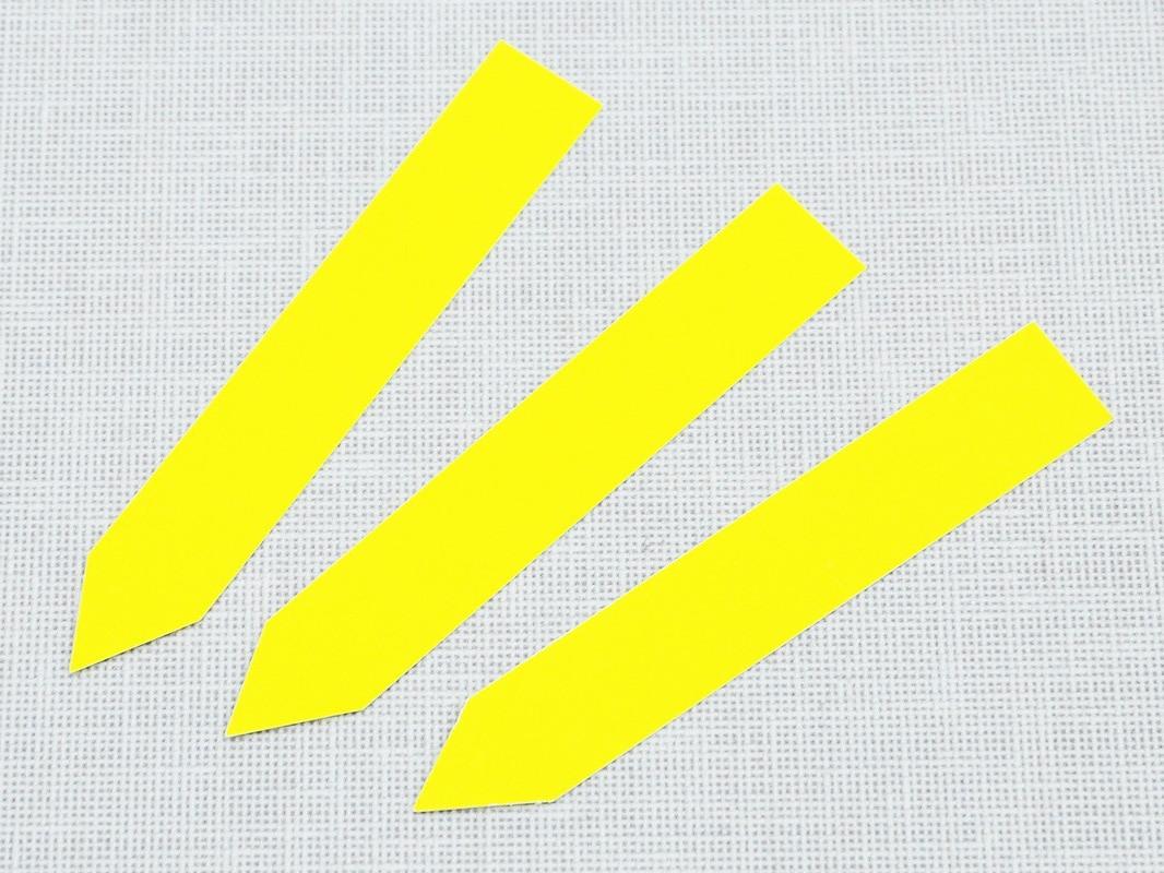 Етикетки-кілочки для рослин PET-R кольорові 1,6 х 10 см, 500 шт - жовті