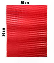 Цветная вощина 100% эко - воск 20х26см Красный