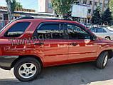Ветровики, дефлекторы окон Kia Sportage 2004-2010 (Autoclover), фото 9