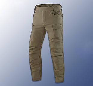 """🔥 Штаны Soft Shell утепленные """"Model - 05"""" (олива) тактические, брюки нацгвардии, ВСУ, теплые, карго"""