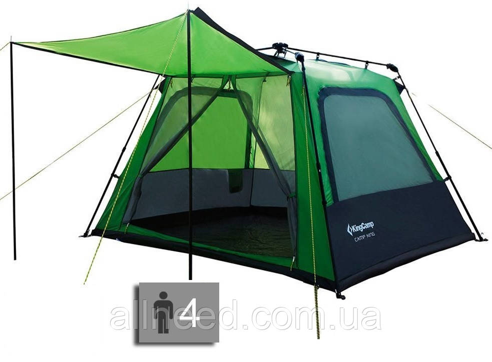 Палатка четырехместная KingCamp Camp King (green) Туристическая палатка