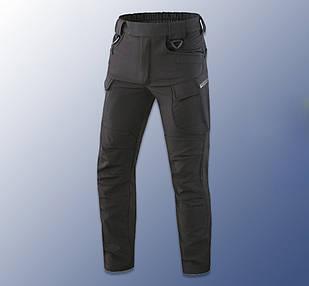 """🔥 Штаны Soft Shell утепленные """"Model - 05"""" (черные) тактические, брюки полиции, теплые, карго"""