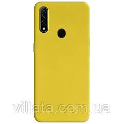 Силиконовый чехол Candy для Oppo A31 / A8 Желтый