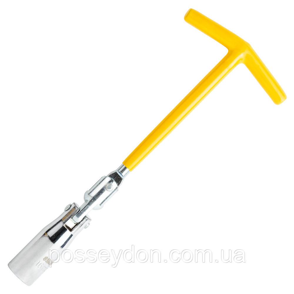 Ключ свечной с шарниром 16мм SIGMA (6030421)
