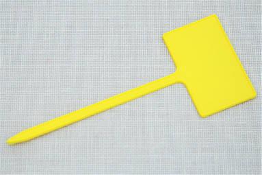 Табличка для растений на ножке АММА №3 желтая (5 см x 3 см, ножка 10 см)