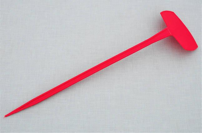 Табличка для растений на ножке АММА №5 красная (9,5 x 6 см, ножка 35 см), фото 2