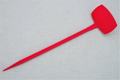 Табличка для растений на ножке АММА №5 красная (9,5 x 6 см, ножка 35 см)