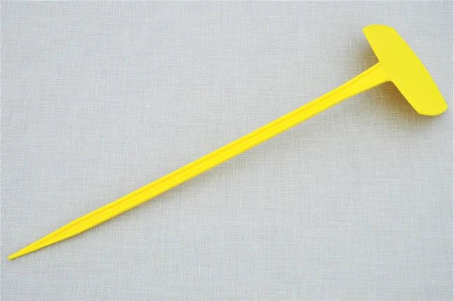 Табличка для растений на ножке АММА №5 желтая (9,5 x 6 см, ножка 35 см), фото 2
