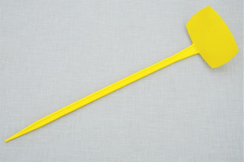 Табличка для растений на ножке АММА №5 желтая (9,5 x 6 см, ножка 35 см)