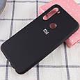 Чехол Silicone Cover Full Protective (AA) для Xiaomi Redmi Note 8T Черный / Black, фото 2
