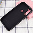 Чехол Silicone Cover Full Protective (AA) для Xiaomi Redmi Note 8T Черный / Black, фото 3