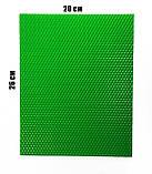 Кольорова вощина зелена. Ціна за лист 20х26 см, фото 2