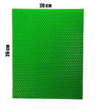 Цветная вощина зеленая. Цена за лист 20х26 см, фото 2