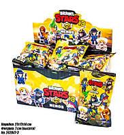 Фигурки шк 3700 Бравл Старс в комплекте 3 карточки и фигурка 7 см