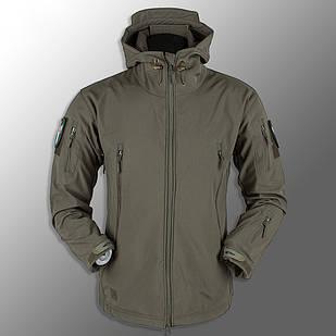 """🔥 Куртка Soft Shell """"ESDY. TAC-105"""" - Олива (непромокаемая куртка, тактическая нацгвардии)"""