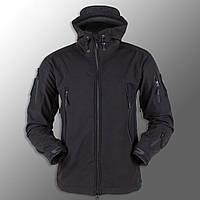 """Куртка Soft Shell """"ESDY 105"""" - Черная (непромокаемая куртка, тактическая, полицейская)"""