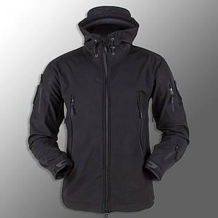 """🔥 Куртка Soft Shell """"ESDY 105"""" - Черная (непромокаемая куртка, тактическая, полицейская)"""
