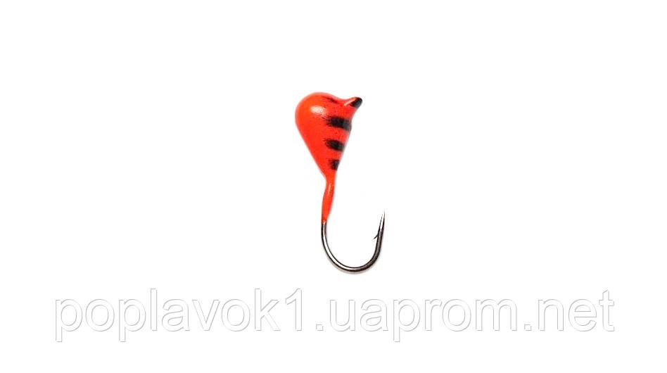 Мормышка вольфрамовая Капля крашененная 3мм (красная)