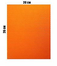 Цветная вощина 100% эко - воск 20х26см Оранжевый