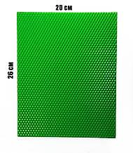 Кольорова вощина 100% еко - віск 20х26см Зелений