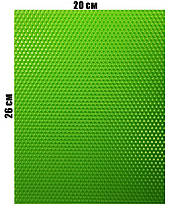 Кольорова вощина 100% еко - віск 20х26см Салатовий
