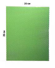 Цветная вощина 100% эко - воск 20х26см Мята