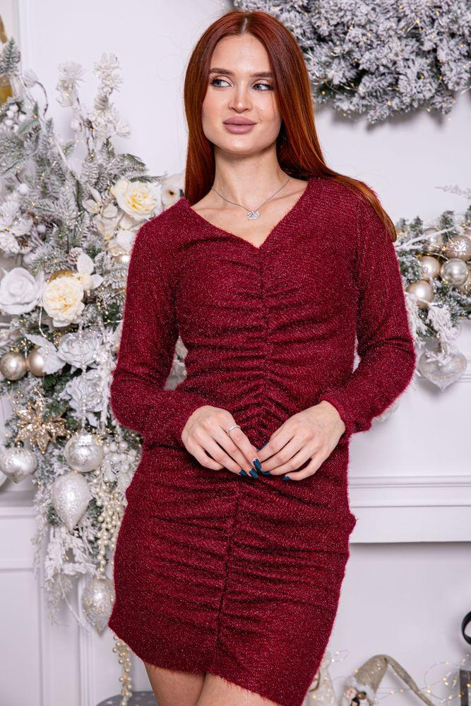 Платье женское 115R351B цвет Бордовый