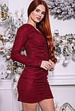 Платье женское 115R351B цвет Бордовый, фото 3