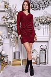 Платье женское 115R351B цвет Бордовый, фото 2