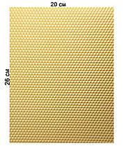 Кольорова вощина 100% еко - віск 20х26см Білий