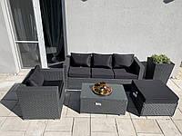 Комплект уличной мебели из ротанга BORNEO диван, кресло, пуф + столик!, фото 1