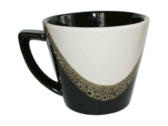 Чашка керамическая Полигенько Капля черно-белая 350 мл упаковка 6 шт, фото 2