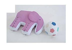 ПодушкаСлоник з мячикомбавовна, гіпоалергенне волокно,кол. гол ТМHomefort