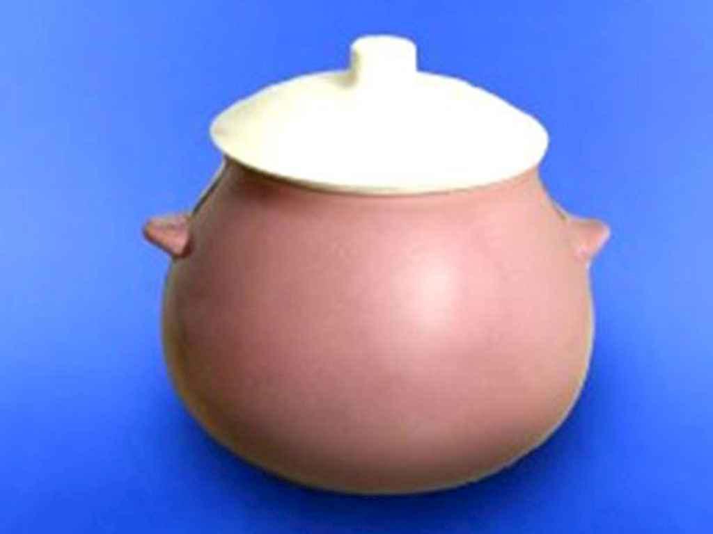 Горшок керамический для жаркого Авангард 600 мл сиреневый