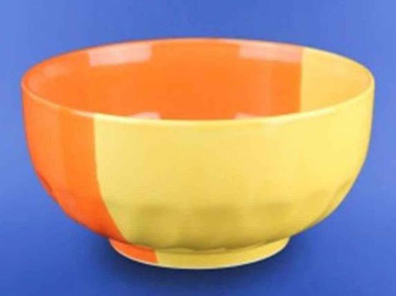 Салатник керамический Авангард желто-оранжевый 1100 мл, фото 2
