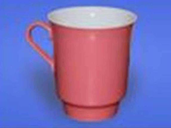 Чашка керамическая Авангард Водолей розовая 700 мл, фото 2