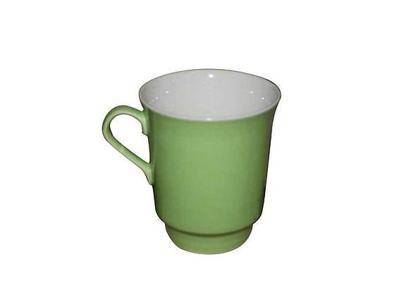 Чашка керамическая Авангард Водолей салатовая 700 мл, фото 2