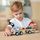 Деревянная игрушечная машинка Viga Toys PolarB Автовоз (44014), фото 4