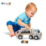 Деревянная игрушечная машинка Viga Toys PolarB Автовоз (44014), фото 5