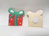 Декоративный Подарок из дерева на липучке