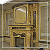Двухэтажный каминный портал из испанского мрамора Crema Valencia: цена от производителя.