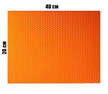 Цветная вощина 100% воск 26х41см Оранжевый