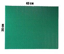 Кольорова вощина 100% віск 26х41см Бірюзовий