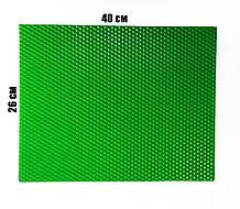 Кольорова вощина 100% віск 26х41см Зелений