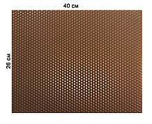 Кольорова вощина 100% віск 26х41см Коричневий
